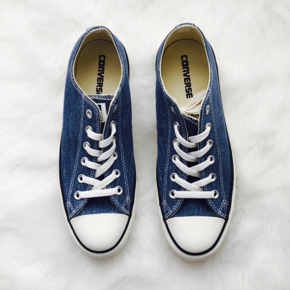 950818d8de9a09 CONVERSE All Star Chuck Taylor Denim Shoes Sz 9.5